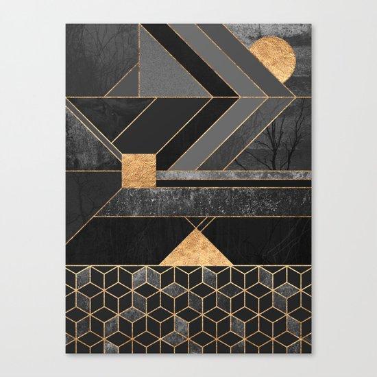 Nordic Black Canvas Print