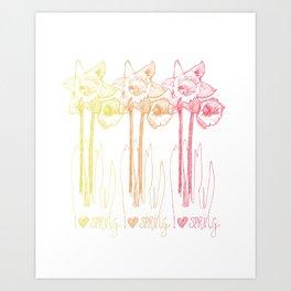 I Heart Spring Art Print