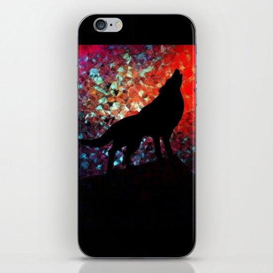 sunset wolf iPhone & iPod Skin