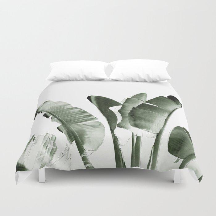 Traveler palm Duvet Cover