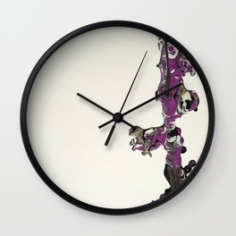Purple Overpour - Number 2 Wall Clock