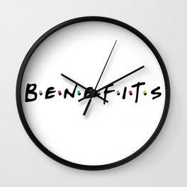 No friends, just benefits Wall Clock
