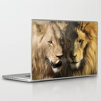 lions Laptop & iPad Skins featuring Lions by Julie Hoddinott