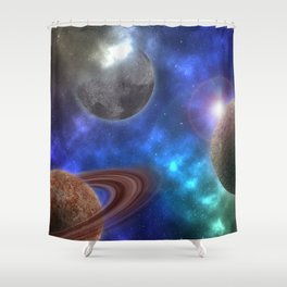 Space Expedition Shower Curtain