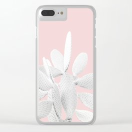 White Blush Cactus #1 #plant #decor #art #society6 Clear iPhone Case
