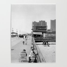 Atlantic City Boardwalk 1920, Apollo Theatre, Mitzi Poster