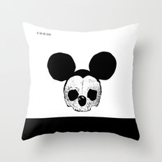 Dead Mickey Mouse Throw Pillow
