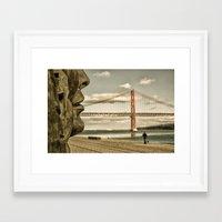 bridge Framed Art Prints featuring Bridge by Sébastien BOUVIER