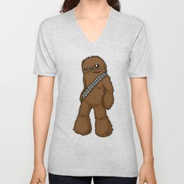 Chewbacca with Stars by RonkyTonk Unisex V-Neck