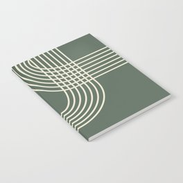 Minimalist Lines in Forest Green Notebook