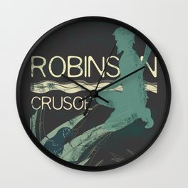 Books Collection: Robinson Crusoe Wall Clock