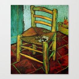 Van Gogh, Van Gogh's Chair – Van Gogh,Vincent Van Gogh,impressionist,post-impressionism,brushwork,pa Canvas Print