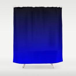 Black and Cobalt Gradient Duschvorhang