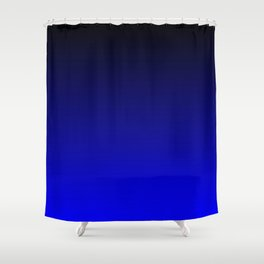 Black and Cobalt Gradient Shower Curtain
