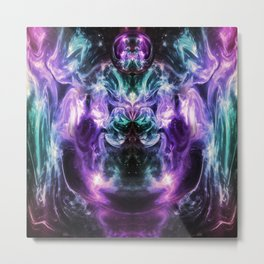 Ultraviolet Nexus Metal Print