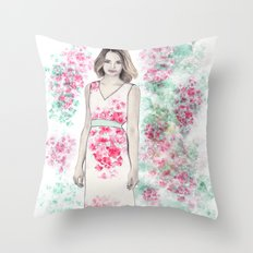 Spring Fashion 2 Throw Pillow