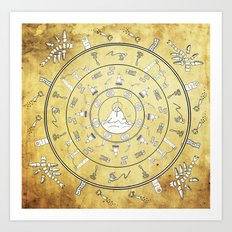 Journey Mandala Art Print