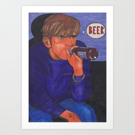 Magic Beer Art Print