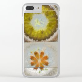 Heronbill Content Flower  ID:16165-155700-92131 Clear iPhone Case