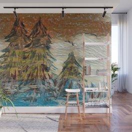 """ Winter Scene "" Wall Mural"