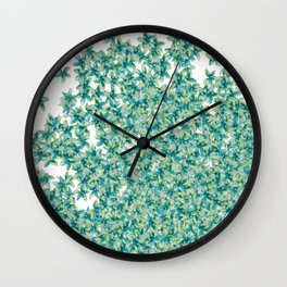 Blue and Yellow Forget Me Knots Wall Clock