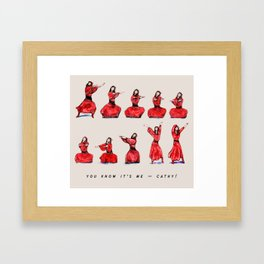 Kate Bush ~ Wuthering Heights Dance Framed Art Print