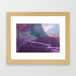 Extraterrestrial Mountaintop Framed Art Print