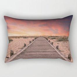 Sunset at Dungeness Rectangular Pillow