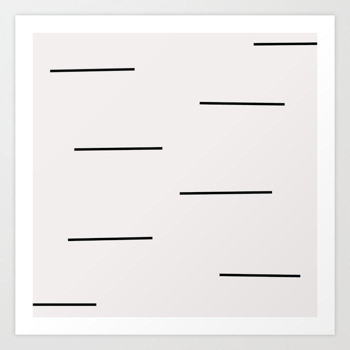 Mudcloth white black dashes Kunstdrucke