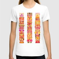 tiki T-shirts featuring Tiki Totems – Fiery Palette by Cat Coquillette