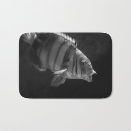 Clown Fish (Black and White) Bath Mat