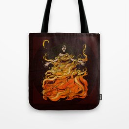 Girl on Fire Tote Bag