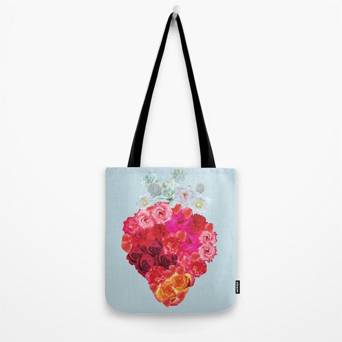 Strawberry Bloom Tote Bag