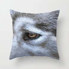 Eye of the dog Throw Pillow