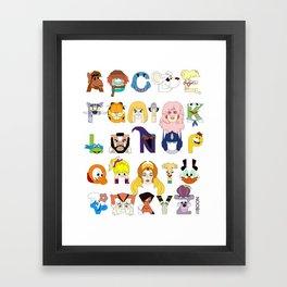 Child of the 80s Alphabet Framed Art Print