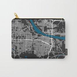 Little Rock city map black colour Carry-All Pouch