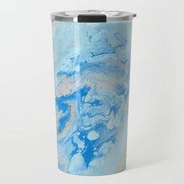 Blue and Gold Travel Mug