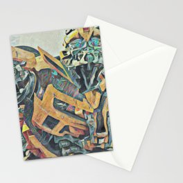 Bumblebee Surprised Artistic Illustration Colored Pencils Lines Style Stationery Cards