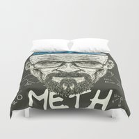 heisenberg Duvet Covers featuring Heisenberg by Maioriz Home