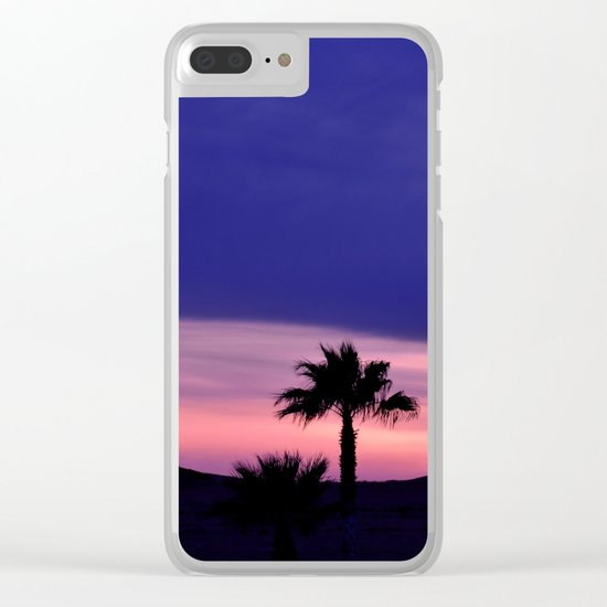 Palm Sunset - III Clear iPhone Case