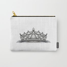 White Tiara Carry-All Pouch