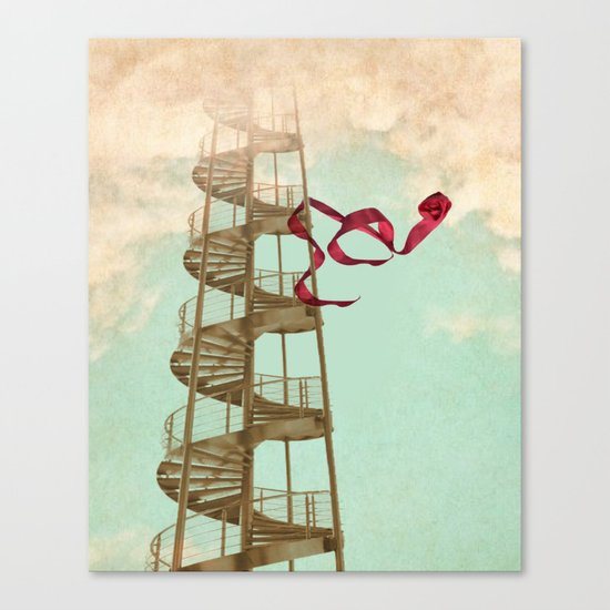 Stair way to nowhere Canvas Print