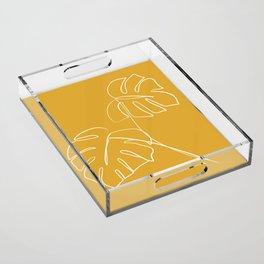 Monstera minimal - yellow Acrylic Tray