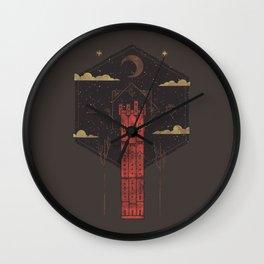 The Crimson Tower Wall Clock