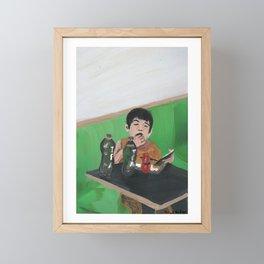 kiddie meal Framed Mini Art Print