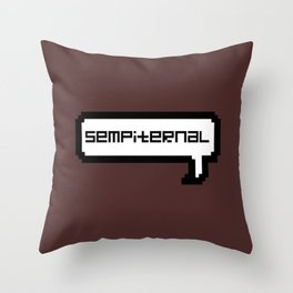 Sempiternal - Maroon Throw Pillow
