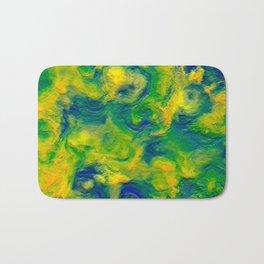 Watercolor Graphical Abstract Art Design Bath Mat