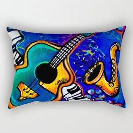 Carnival Jazz Painting Rectangular Pillow