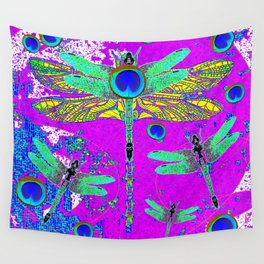FANTASY DRAGONFLIES DREAMSCAPE PURPLE ART Wall Tapestry