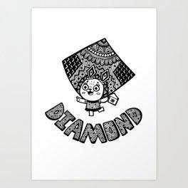 Diamond of Bunny Art Print